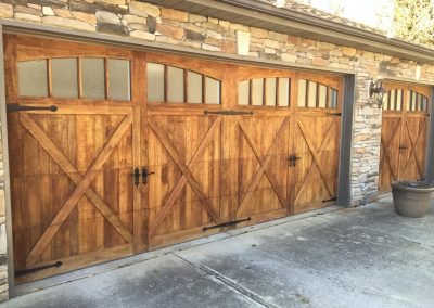 chi wood overlay door insulated carriage house