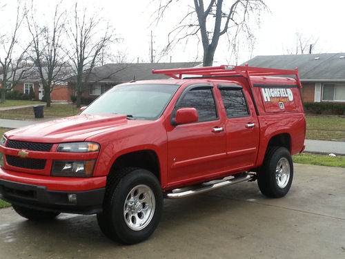 Chevy Colorado work truck lifted cowl hood