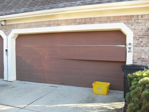 Garage door panel coming apart