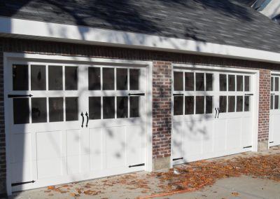 double glass carriage house garage doors