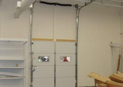 Commercial Garage Door Vertical Lift up wall