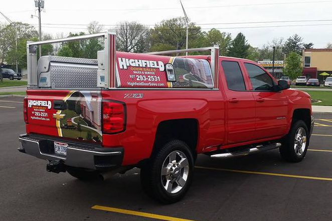 Highfield Door's Red Chevy 2500
