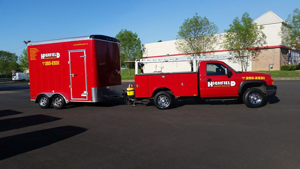 Red Highfield Door Truck and Trailer