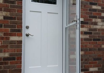 White Entry and Storm Door